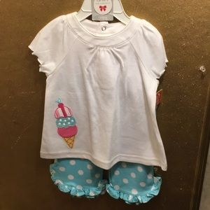 just one year Matching Sets - NWT sz 18 mths ice cream pantset